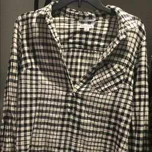 Merona Baggy Checkered Top